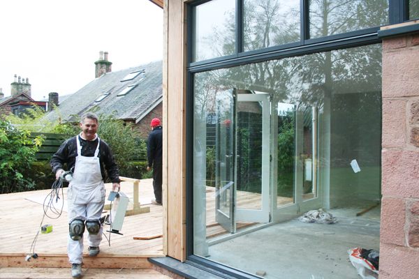 Contemporary garden kitchen building workshop for Kitchen design jobs scotland