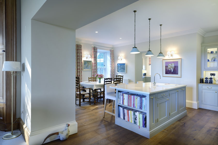 kitchen living open plan perthshire country living farmhouse