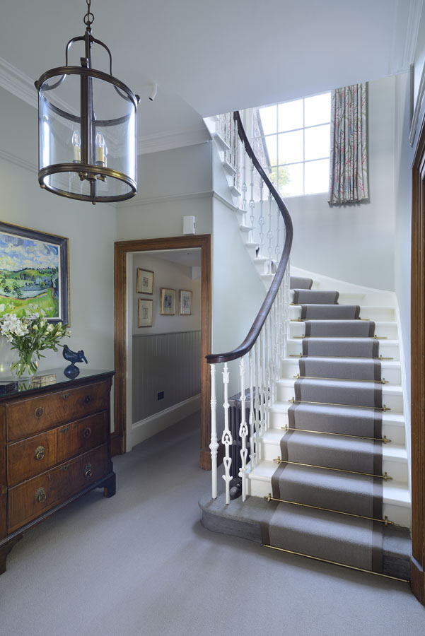stair hall farmhouse